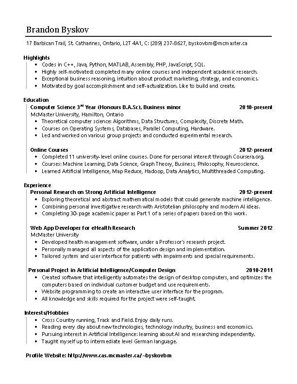 github resume brandon byskov